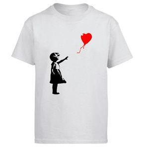 World Peace Tshirt Men Kcco Balloon Girl Banksy T shirt Love Tshirts Summer Tops Tee Cotton Print Graphics Design Short Sleeve