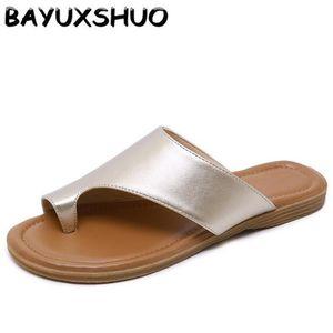BAYUXSHUO Лето Toe Удобные Тапочки Сплошной Цвет Большой Размер Повседневная Плоские Туфли Повседневная И Удобная Уличная Женская Обувь