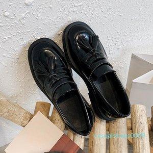 style printemps femmes chaussures plates Plate-forme Femme Automne Gros Bas Burgendy Plateforme Femmes Chaussures Casual Flats Women C09