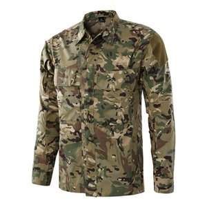 Hochwertige Multi-Pocket-Militär Training schnell trocknend Camouflage Tactical Shirt Männer Outdoor Jagd CS Field Shooting atmungsaktive Shirts