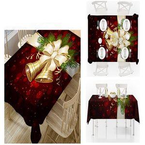 Moda Xmas Toalha de Mesa de Natal de Bell Milu cervos Impresso toalha grande WY103Q Tabela dos desenhos animados Waterproof Pano Xmas Tabela Decoração Household Toalha