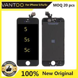 100% Оригинальный дисплей для iPhone 5 5C 5S LCD сенсорного экрана для Apple 5 / 5s / 5с Оригинальных мобильного телефона Дисплея