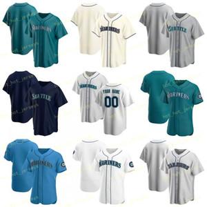 Gewohnheit irgendeine Name Nummer 51 Johnson 2020 Baseball Jersey 51 Suzuki 34 Hernandez 18 Iwakuma 15 Seager 9 Gordon 17 Haniger 11 Martinez genähtes