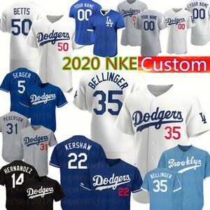 2020 NKE 35 Cody Bellinger 22 Clayton Kershaw 50 Mookie Betts Jersey 31 Mike Piazza Enrique Hernandez Turner Seager beyzbol