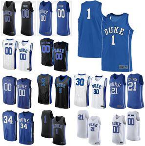 Duke Blue Devils Formalar Joey Baker Jersey Buckmire Vernon Carey Javin DeLaurier Goldwire Koleji Basketbol Formalar Custom Dikişli