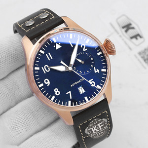 Rose Gold Luxury Fashion Womens Lady Mens Designer Automatic Movement Power Reveling Big Pilot KF Orologi uomo orologio da polso da polso
