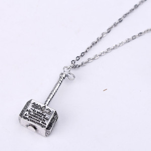 New Silver Necklace Hip Hop Long Pendant Chain Men Women Fashion Designer Hot Selling Chain Shipping Free Hammer Pendant Necklace