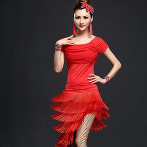 Adult Latin Dance Costume Afficher Tassel Jupe nouveau jeu de danse Costume Performance Femme Latin Tango Service de