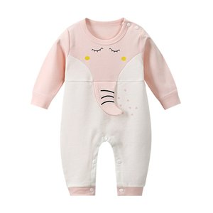 CYSINCOS Autumn Cute Baby Long Sleeve Jumpsuit Cartoon Animal Pattern Romper Infant Cotton Clothes Newborn Tracksuit Baby Outfit