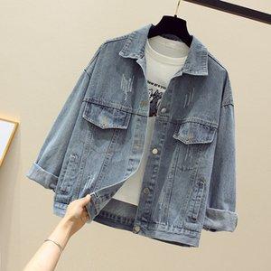 2020 new Womens jackets coats Spring fashion jeans Jackets Denim Women slim cotton solid Jacket for women Outerwear ladies Coats wholesale