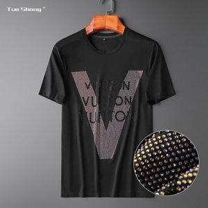 | summer 20 European luxury light Simple Men's mercerized cotton V-shaped iron Olympic GLEL