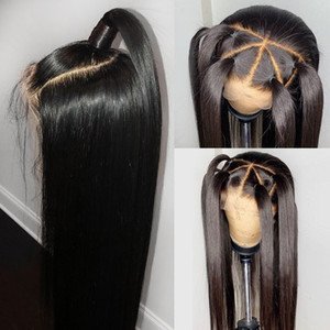 Remy Hair Silky Straight 4*4 Silk Base Wigs Full Lace Human Hair Wigs For Women Silk Top lace Wigs with Baby Hair 180