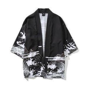 Мужская Кимоно Японская Одежда Уличная Одежда Повседневная Кимоно 2018 Лето Осень Куртки Harajuku Япония Стиль Кардиган Пиджаки для Мужчин Падение Корабль
