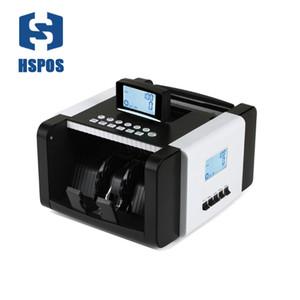 HSPOS HS-128 المال بيل ملاحظة عداد عد النقود آلة عداد مع الأشعة فوق البنفسجية / MG / IR / DD