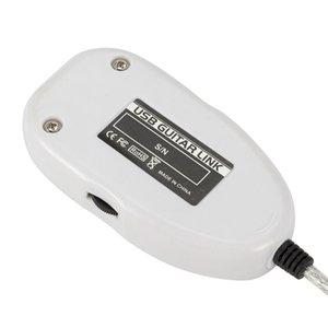 Guitarra para Interface USB Link Cable Adapter Conector de áudio gravador para PC Acessórios Guitarra / Computer