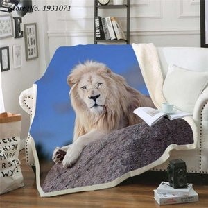 Tiger lion leopard 3D Printed Fleece Blanket for Beds Thick Quilt Fashion Bedspread Sherpa Throw Blanket Adults Kids 01