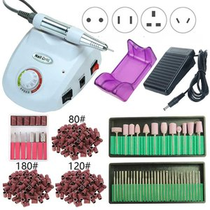 35000 20000 RPM Electric Nail Drill Machine Set Milling Cutter Manicure Pedicure Sanding Bands Kit Nail Polishing File Equipment
