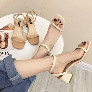 Goddess2019 Late Summer And Evening Coarse With Toe One Buckle Portare donna Sandali Roma