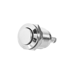 Envío gratuito 10 unid Botón de reinicio Interruptor de metal a prueba de agua de 12 mm Botón de inicio Botón pulsador momentáneo Interruptor eléctrico
