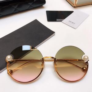 Lüks Kadınlar Moda Tasarımcısı Popüler Retro Stil UV Koruma Mercek Çerçeve Üst Kalite Ücretsiz Paketi ile gel Yuvarlak Güneş Gözlüğü 2183