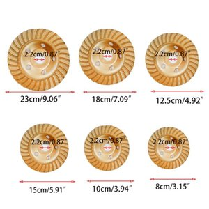 Chapado de oro de la ondulación recipiente de moler Diamond Head Molienda disco de corte de piedra 40JA
