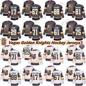 Vegas Golden Knights 29 Marc-André Fleury 75 Ryan Reaves 71 William Karlsson 61 Mark Ston 67 Max Pacioretty Hommes Enfants Femmes Hockey Maillots