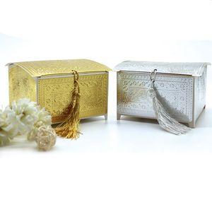 Hediye Kutusu Folyo Altın Parti Kağıt Hediyelik Kutular Packaging Düğün Dekorasyon Favor Şeker Malzemeleri kek Box yastık