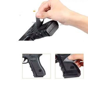 résistant à l'usure antidérapante poignée en caoutchouc poignée pistolet jouet ruban adhésif autocollant imperméable à l'eau pour G17 / 20/21/22 G19 / 23/25/32/38