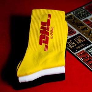 Mens Tripulação Cotton A DHL Express Hip hop Meias Vetements Letter estilo de impressão moderno Men Moda Mulher Sock skaterboard Streetwear