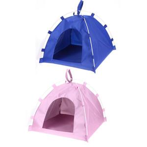 Складная Cute Dog House Крытый Палатка Cute Pet лагерь для Kitten Cat Малые собаки Щенок питомника Палатки Кошки Nest House бесплатную доставку 2020 новый
