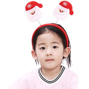 Christmas Headband Santa Claus Xmas Hair Band Clasp Headwear Head Hoop Party Hairband Head Hoop Christmas New Year 2020 Gift