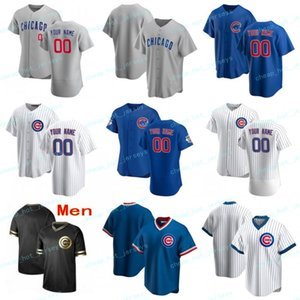 2020 Baseball personnalisé Jharel 45 coton Javier Baez 9 Anthony Rizzo 44 Kris 17 Bryant Ryne Sandberg 23 Bruce Sutter 42 Maillots Hommes Femmes Enfants