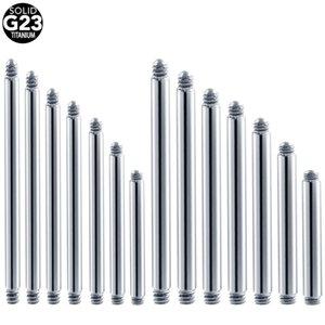 10pcs 50Pcs G23 di titanio anello della linguetta di ricambio Accessori Industrial Orecchini Piercing Bar Etero gioielli del corpo del Barbell