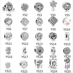Pandora bilezik Mix Love Letter Kabak Araba Dreamcatcher DIY Boncuk Takı Toptan için 925 Gümüş Charms