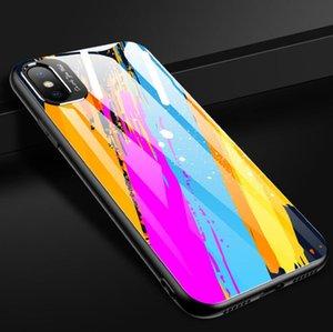 크리 에이 티브 모델 금속은 iphone11 미러 낙서 유리 애플 (11) 휴대 전화 케이스 낙하 방지 디자이너 전화 케이스 쉘 렌즈를 두르고