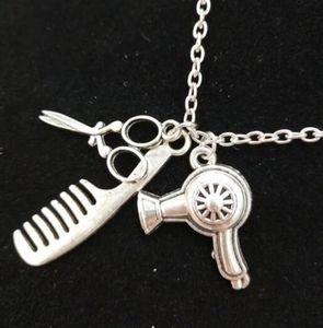 Séchoir à cheveux / Ciseaux / Peigne Dangle Vintage pendentif collier pendentif ciseaux bijoux coiffeur déclaration cadeau bijoux - 7