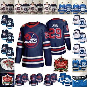 Mens Youth Lady 29 Patrik Laine Mark Scheifele Blake Wheeler Dustin Byfuglien Home All Yout Your 2019 Heritage Classic Winnipeg Jets Hockey Jerseys