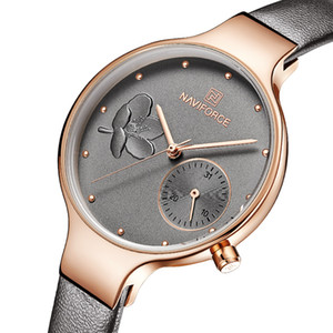 Relojes de las mujeres de primeras marcas de lujo señoras reloj de cuarzo femenino de cuero genuino delgado reloj de pulsera moda casual reloj relogio feminino y19062402