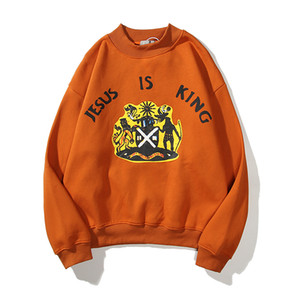 Orange Farbe Oversize-Shirt Männer und Frauen Fleece Freizeit Hoodies Street lose Hoodie