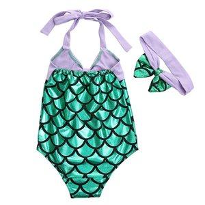 Hot 2020 bambini delle neonate Mermaid Bikini costume da bagno balneabile Swimsuit Swimwear fascia bambina del Balletto sirena