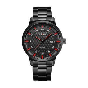 2021 Weide Men Fashion Hour Calendar Кварц Полная стальная полоса Военные Повседневные наручные часы Часы Relogio Masculino Erkek Saat Drop Ship
