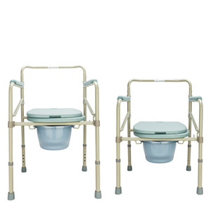 Asiento de inodoro para adultos de servicio pesado Cómoda Silla para ir al baño Baño Mesita de noche portátil