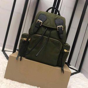 Designer-Top sac à dos de luxe de qualité Le coton nylon nylon et sac à dos de femmes hommes sac à dos Rucksack mode paquet militaire