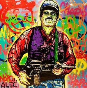 Alta qualità Alec Monopoly dipinta a mano HD Stampa Abstract Graffiti Art Oil Painting El Chapo su tela di canapa di arte della parete Home Decor vA.