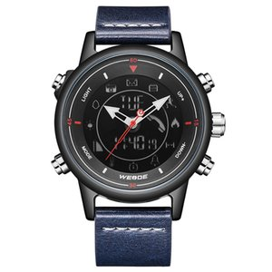 WEIDE Leather Strap Digital Bluetooth Smartwatch Clock 5ATM Waterproof Men Wristwatch Business Causal Alarm Relogio Masculino