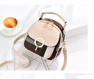 The hottest new 2020 simple trend wild shoulder round small backpack large capacity outdoor travel shoulder bag party office crossbody bag