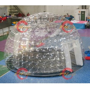 free air ship to door, 5m 6m 8m diameter big igloo transparent dome clear bubble inflatable tent for party