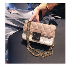 New Fshion Ladies Plaid Small Flap Bag Progettista di marca Borse da donna Borse da giorno Frizione Catena d'oro Ragazze Crossbody Borse a tracolla