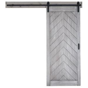 Rustic Black Steel rotolamento scorrevole Barn Door Hardware Track System industriale scorrevole in legno Kit Hardware Door