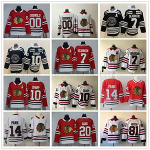 2019 Chicago Blackhawks Maillots de hockey 00 Clark Griswold 7 Brent 10 Patrick Sharp 14 Richard Panik 20 Brandon Saad 81 Hossa Jersey Blank
